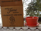 Fiesta Flower Pot Planter 2 pc. Persimmon 1st quality with box Fiestaware