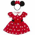 Disney Baby Girls Red White Minnie Mouse Costume Size 3 Months IL AN3 2045 57