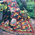 1930s SUNFLOWER SAYONARA VINTAGE FRIENDSHIP QUILT PATTERN SCRAPPY 4SIZE OPTIONS