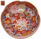 Japanese Satsuma Pottery Bowl Thousand Flowers Koshida Mark Meiji Period
