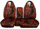 91-15 Ford Ranger 60-40 Camouflage Seat Covers Skull Punisher. 10 Colors