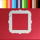 Scalloped Square Die Cuts 3 1 2 18 pc Scrapbooking Card Making Cardstock Frame