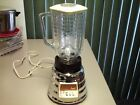 VINTAGE OSTER OSTERIZER IMPERIAL BEE-HIVE CHROME BLENDER w GLASS JAR model 458-A