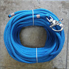 3 8 x 115ft Royal Blue Dacron Polyester Halyard Spliced in S S Snap Shackle