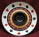 Fitz and Floyd Roulette Wheel Chip and Dip Server Game Night Man Cave Casino