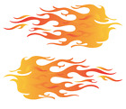 Pair Of Flames Decal Sticker Hot Rod Car Truck Go Kart Boat Motorcycle Pick Size