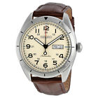 New Seiko Automatic Day Date Brown Leather Strap Men's Watch SRP713