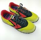 Brooks Mens Running Shoes Heritage Chariot 944 Retro Neon Green Red Black 115