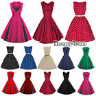 1950S 1960S ROCKABILLY DRESS Vintage Swing Pinup Retro Housewife Party Dress