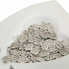 50Pcs Tibetan Silver 1210mm Made With Love Charms Beads Jewellery Craft