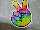 COLORFUL PEACE SIGN GLOSSY Sticker Decal Bumper Bomb Skateboard Laptop NEW