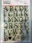 My Sentiments Exactly Clear Acrylic Stamps TT202 Large Baby Caps Alphabets NEW