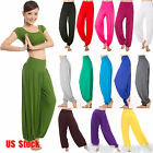 Womens Harem Baggy Gypsy Dance Yoga Pants Trousers Genie Aladdin Causal Jumpsuit