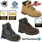 Steel Toe Safety Work boot Water  Oil Slip Resistant cushioned boots PPE TS