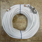 3 8 x 90 ftWhite Soft Spun Dac Polyester Halyard Spliced in S S Snap Shackle