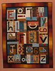 ALPHABET  NUMBERS SOUP QUILT PATTERN Fun Applique Wall Quilt From BJ Designs