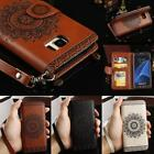 Luxury Leather Flip Wallet Phone Case Cover Stand for Samsung Galaxy S8 S8 Plus