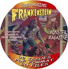 CASTLE OF FRANKENSTEIN VINTAGE MAGAZINES 33 ISSUES PDF FILES ON CD MONSTER