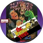 MONSTER TIMES VINTAGE MAGAZINE COMIC BOOK 62 ISSUES PDF FILES ON DVD HORROR