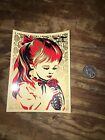 RARE Obey Shepard Fairey Large Gold War by Numbers Sticker