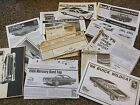 13 INSTRUCTION SHEETS JO-HAN 1963 STARFIRE AMT 1966 MERCURY 1975 DART