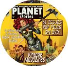 PLANET STORIES VINTAGE SCI FI MAGAZINES COMIC BOOKS 117 ISSUES PDF DVD