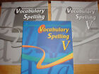 Abeka 11 Vocabulary Spelling V Student Book Quizzes  Quiz Key Fourth Edition