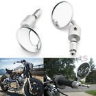 Silver Motorcycle Rearview Mirrors 7/8