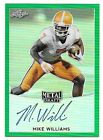 2017 Leaf Metal Draft Pris Green Mike Williams Autograph #7/10  CLEMSON JERSEY #