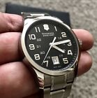 NEW VICTORINOX SWISS ARMY WATCH MEN'S ALLIANCE MODEL 241322 BLACK STAINLESS 40mm