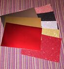 Stampin Glitter  Foil Paper Set Of 9 Pc Card Fronts Sampler Glimmer DSP New