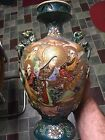Japanese Kutani Satsuma Antique Vase Nativity Scene Asia Anime Artwork Moriage
