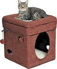 Cat Condo House Bedding Kitten Stand Lounger Cube Box Pet Accessories Toy New