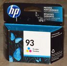 Genuine HP 93 Tri Color Ink Cartridge April 2017 NEW  Sealed FREE Shipping