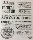 Family Words Phrases People Scrapbook Stickers