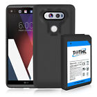 TQTHL LG V20 10800mAh Extra Replacement Extended Battery + Black TPU Case