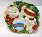 Fitz and Floyd Kristmas Kitty Canape` Plate 2003 Party Tray