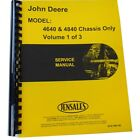 Service Manual (Chassis Only Manual) For John Deere Tractor 4840 4640
