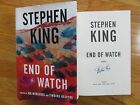 Horror Author STEPHEN KING signed END OF WATCH 2016 Hard Cover Book COA