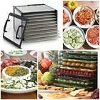 9-Tray Clear Door Stainless Steel Dehydrator w/ Timer 15 sq.-ft. 7