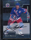 2001-02 BAP SIGNATURE SERIES MARK MESSIER AUTO SP SHORTPRINT RARE #XLMM