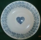Folk Craft Hearts by Tienshan  Stoneware 1 Soup or Cereal Bowl 6 1/4