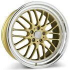 New4 set 19 Ace Alloy Wheels SL M Gold with Machined Lip Rims