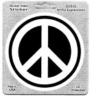 3  Peace Sign Decal Sticker High Quality Double sided UV Protected