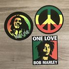 Bob Marley One Love Reggae Peace Sign Vinyl Sticker Set Free Shipping