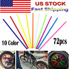 72pcs 4mm Universal Motocross Dirtbike Enduro Wheel Rim Spoke Wraps Skins Covers