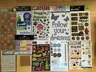 50+ packages sheets scrapbooking stickers rub ons metal embellishment lot 2