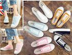 Womens Lady driving shoes canvas shoes Breathable slip on shoes fashion sneakers