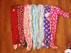 3T girls feet pjs 7 pair 5 Carters brand and 2 are Childrens Place