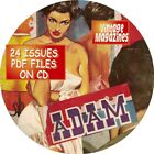 ADAM VINTAGE MENS MAGAZINE 37 ISSUES PDF FILES ON CD FACT FICTION HUMOR